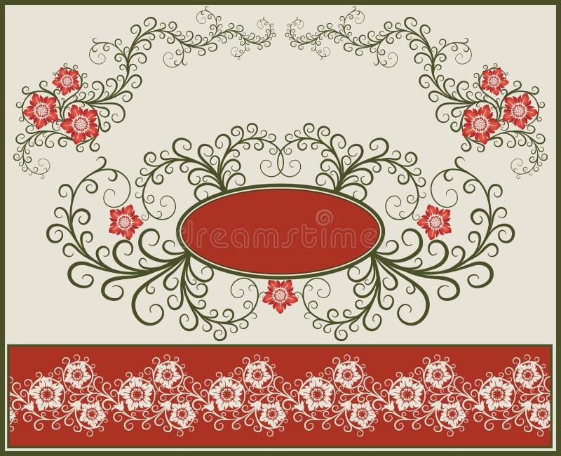 Marco y frontera florales. libre illustration