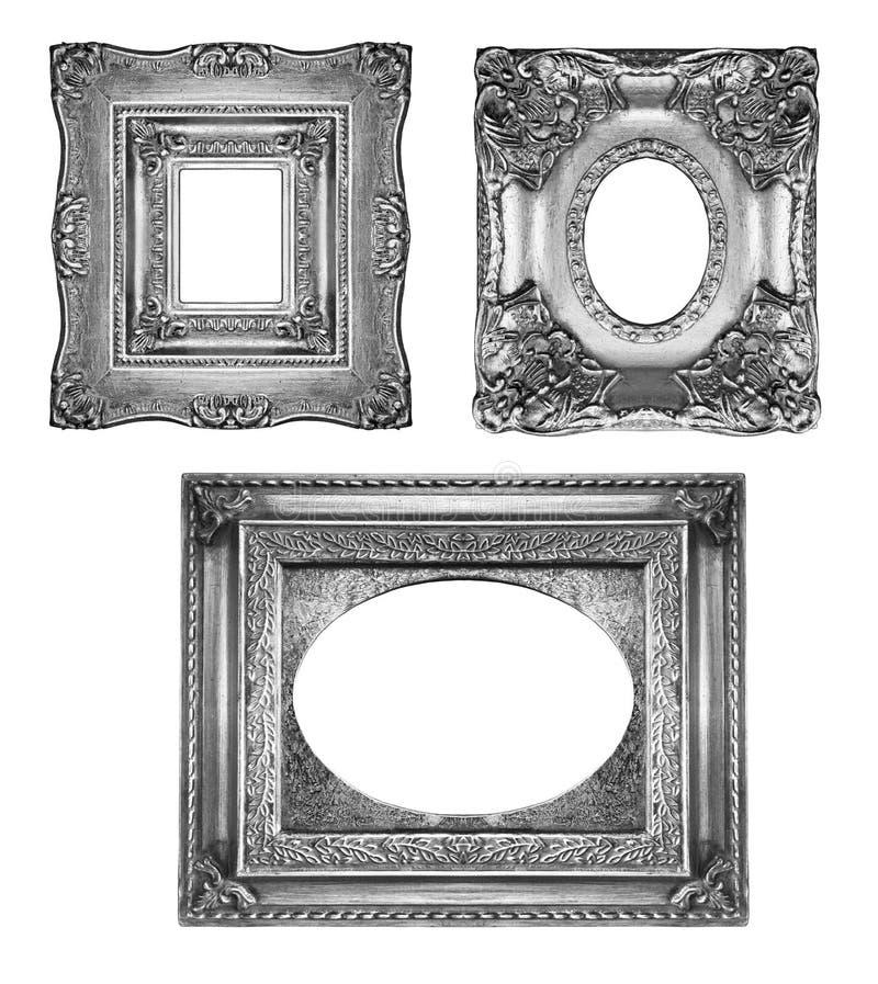 Marcos adornados de plata imagen de archivo. Imagen de marco - 10554307
