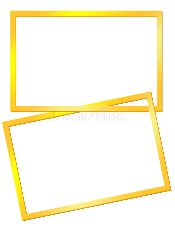 Marcos amarillos ilustración del vector