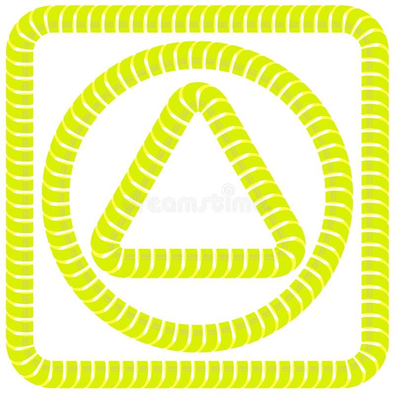 Marcos amarillos stock de ilustración. Ilustración de repetición ...