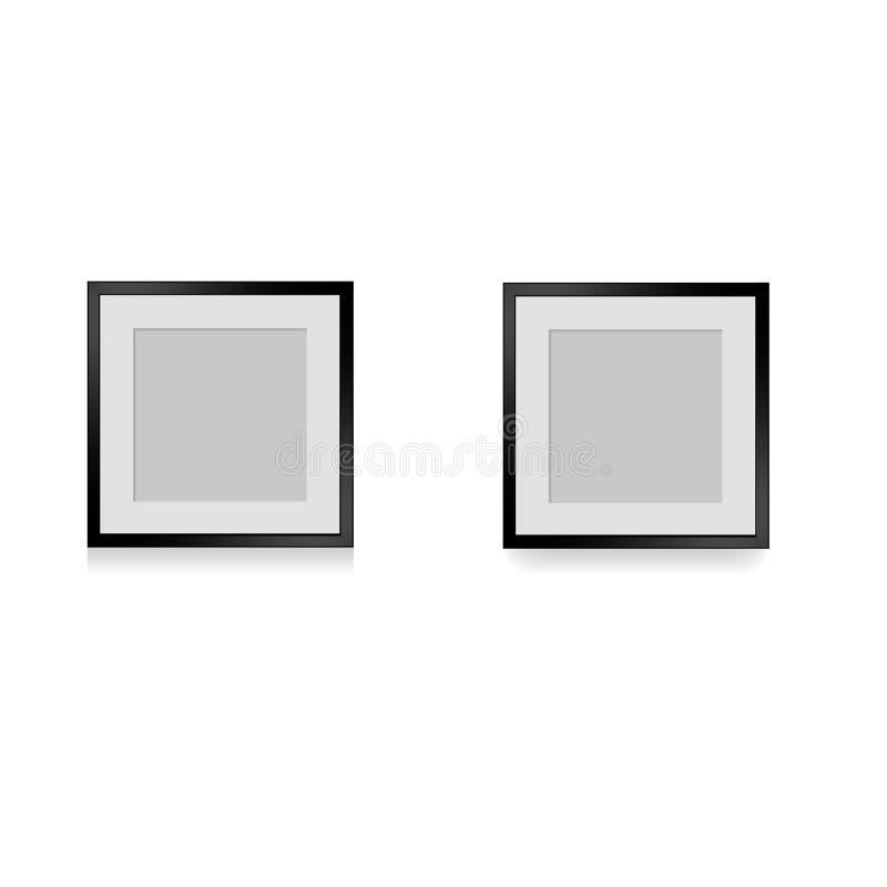 Marcos antiguos de la foto con la sombra para la pared, ejemplo libre illustration