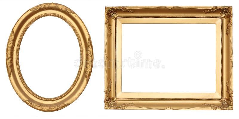 Marcos antiguos del oro foto de archivo