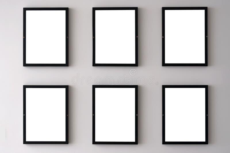Marcos blancos de la pared imagen de archivo. Imagen de marco - 78021017
