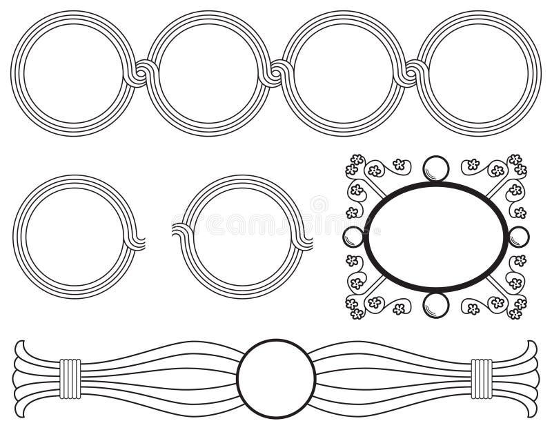 Marcos circulares ilustración del vector