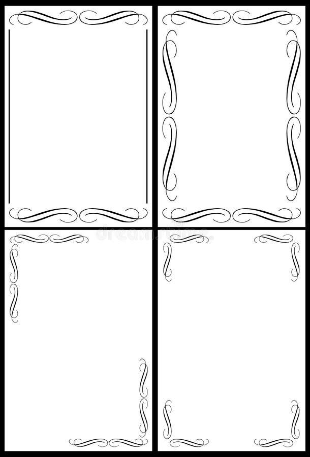 Marcos clásicos de la frontera libre illustration