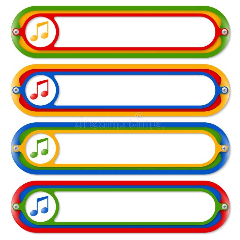 Marcos coloreados stock de ilustración. Ilustración de marco - 47903528