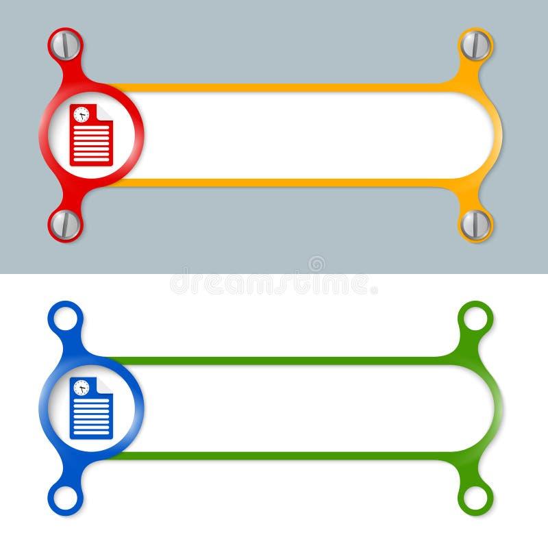 Marcos coloreados ilustración del vector. Ilustración de coloreado ...