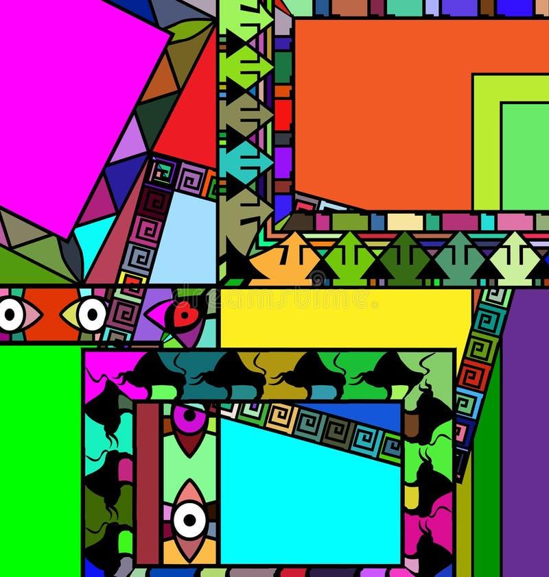Marcos coloreados extracto stock de ilustración. Ilustración de ...