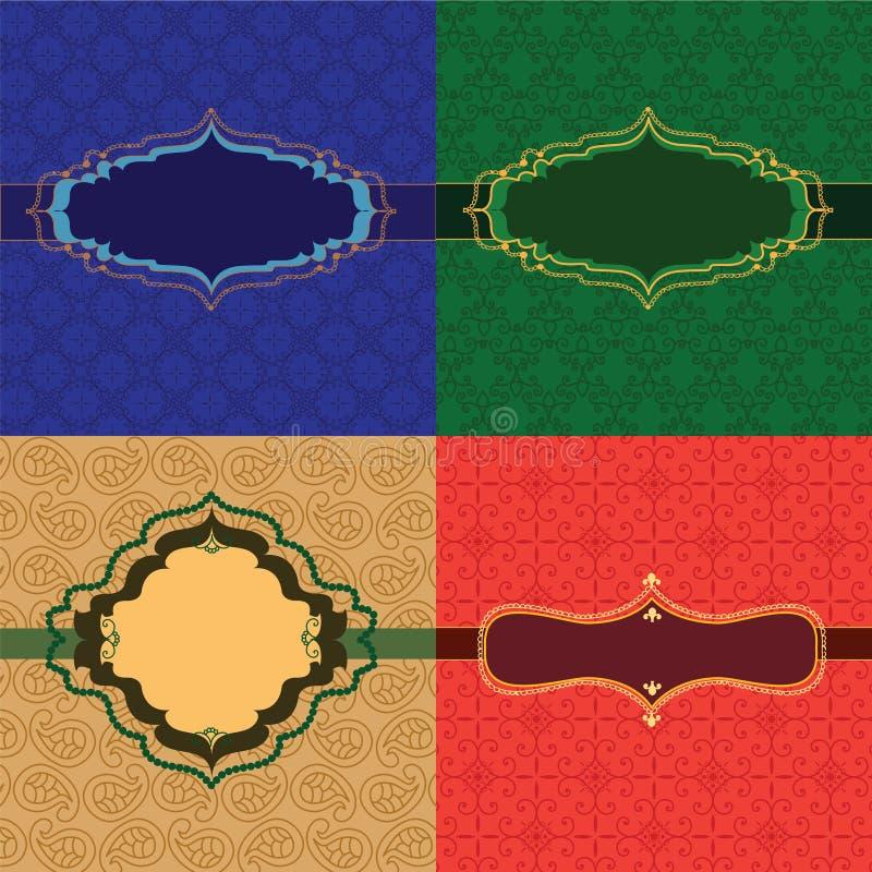 Marcos coloridos de la alheña ilustración del vector