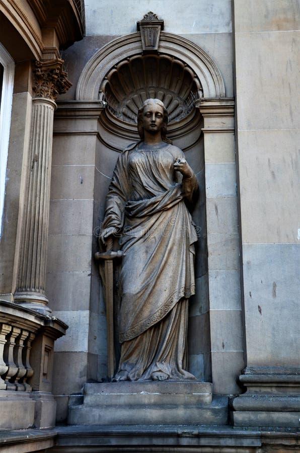 Marcos de Escócia - esculturas em Dundee fotos de stock