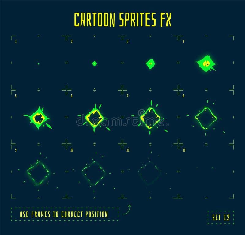 Marcos de la animación o sprites de la explosión de la energía libre illustration