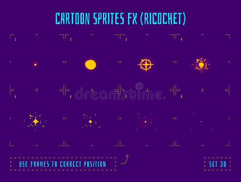 Marcos de la animación o sprites de la explosión de la energía ilustración del vector