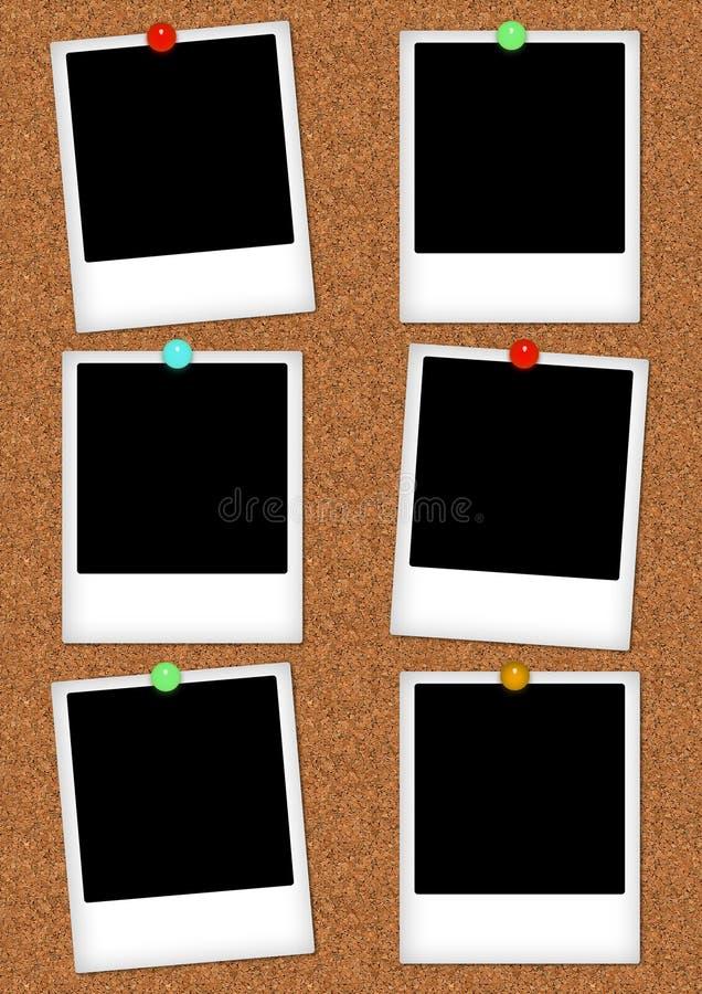 Marcos de la foto en un corkboard libre illustration