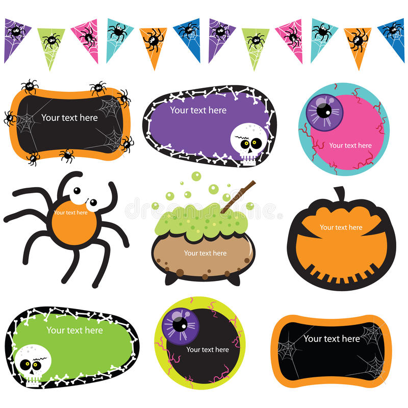 Marcos de la invitación de Halloween libre illustration