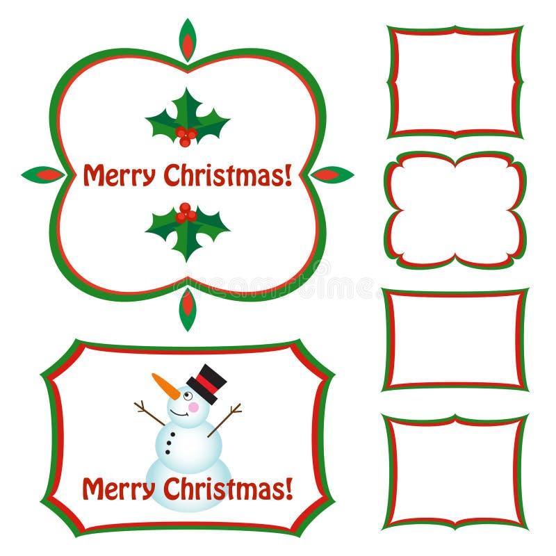 Marcos de la Navidad fijados ilustración del vector