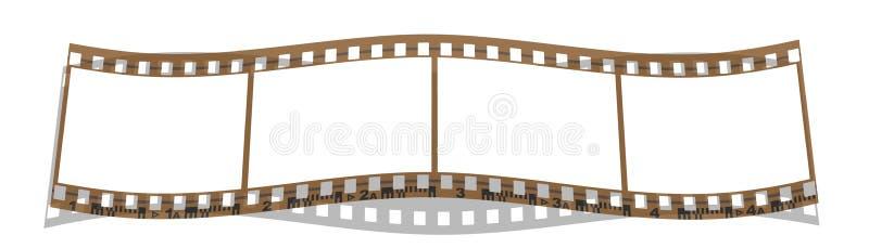 Marcos de la tira 4 de la película ilustración del vector