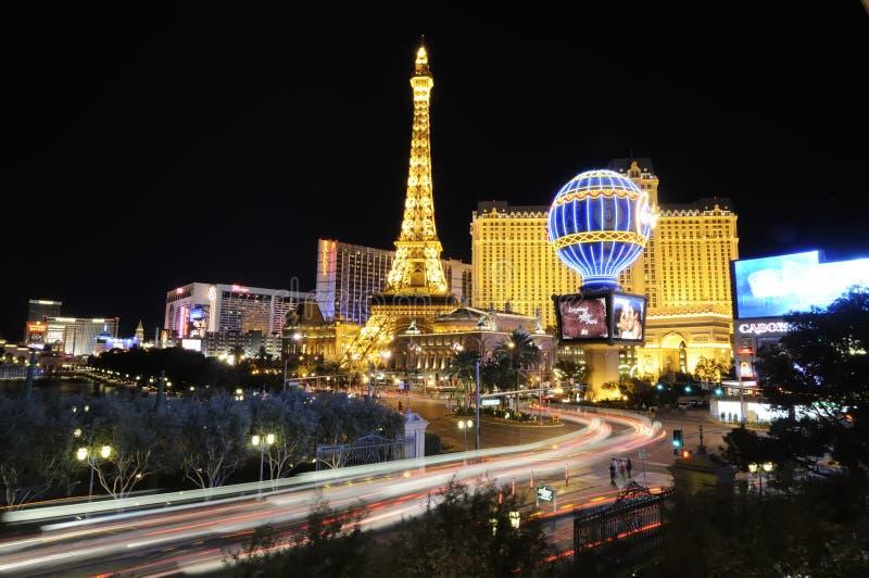 Marcos de Las Vegas na noite imagem de stock royalty free