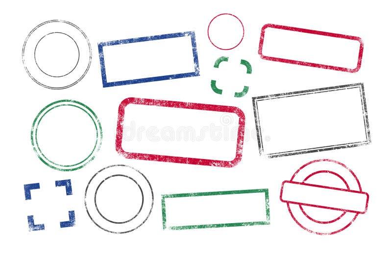 Marcos de los sellos ilustración del vector