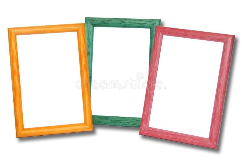 Marcos de madera coloreados fotos de archivo libres de regalías