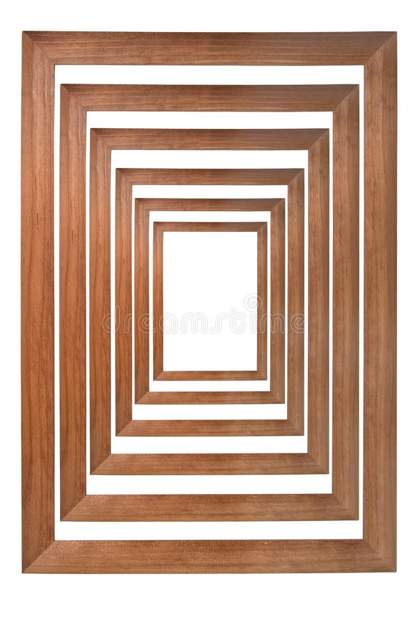 Marcos de madera múltiples de la foto fotografía de archivo libre de regalías