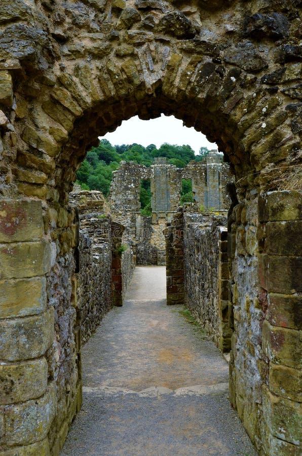 Marcos de North Yorkshire - abadia de Rievaulx fotografia de stock