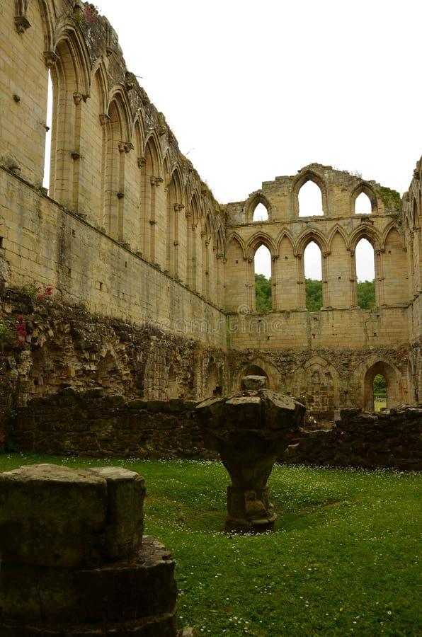 Marcos de North Yorkshire - abadia de Rievaulx imagens de stock