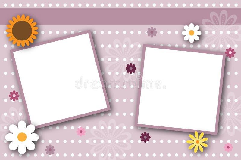 Marcos de paginación del libro de recuerdos ilustración del vector