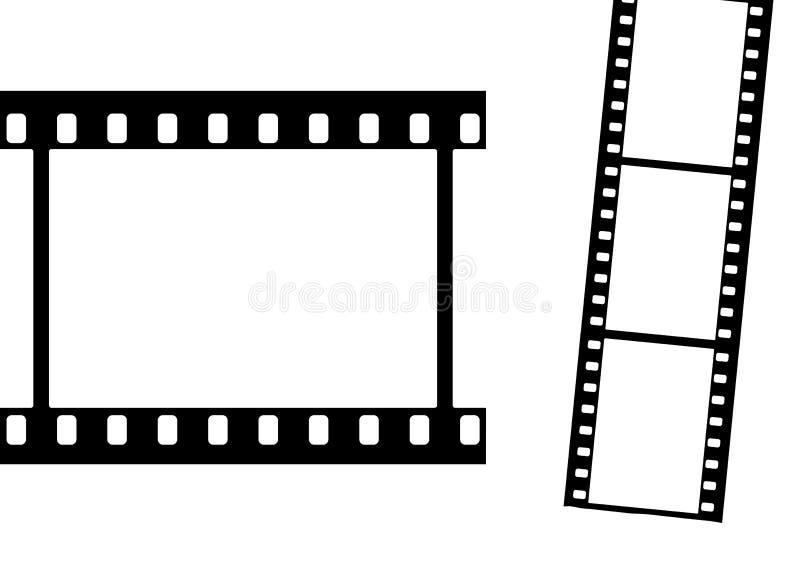 Marcos de película claramente ilustración del vector