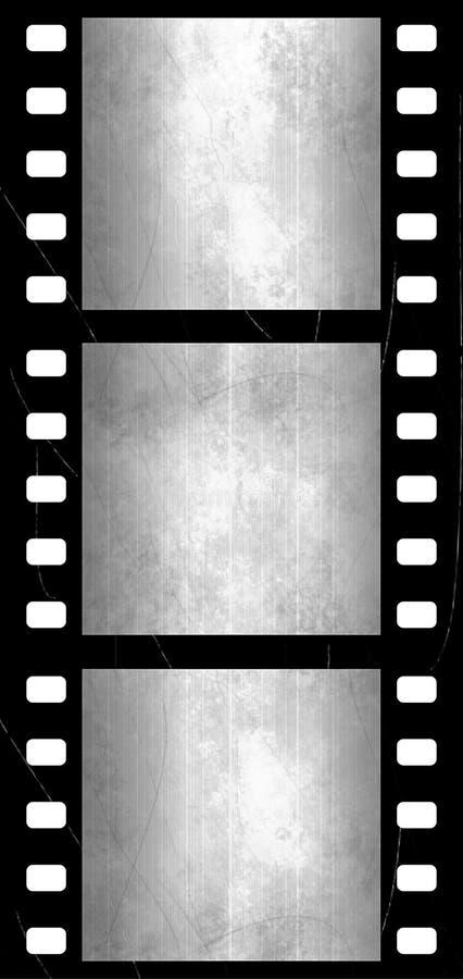 Marcos de película con texturas ilustración del vector
