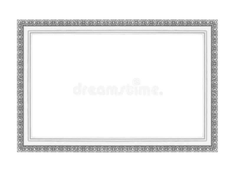 Marcos de plata Aislado en blanco imágenes de archivo libres de regalías