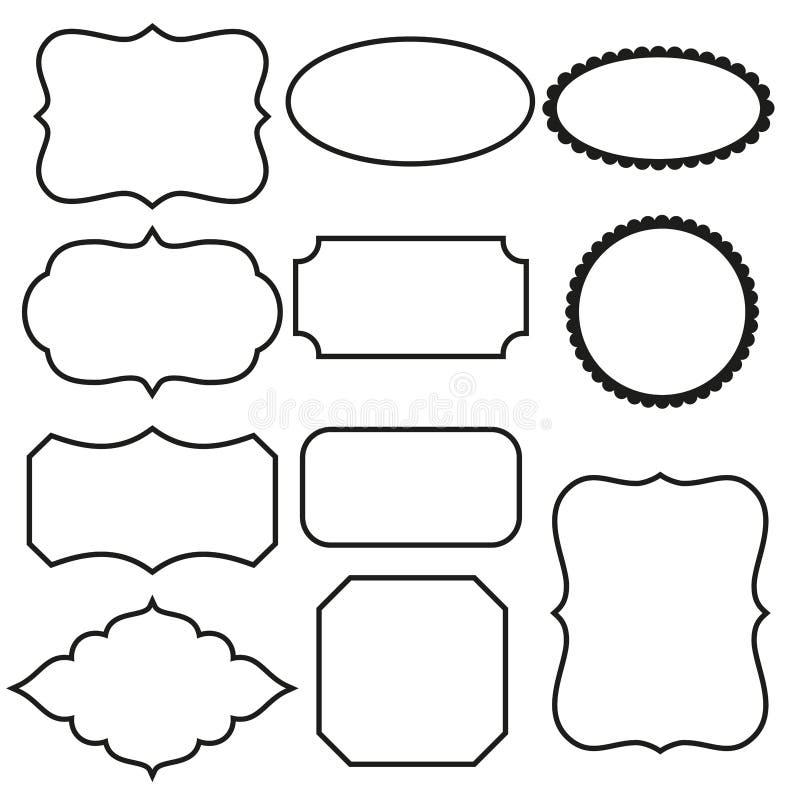 Marcos decorativos blancos y negros ilustraci n del vector - Marcos decorativos ...
