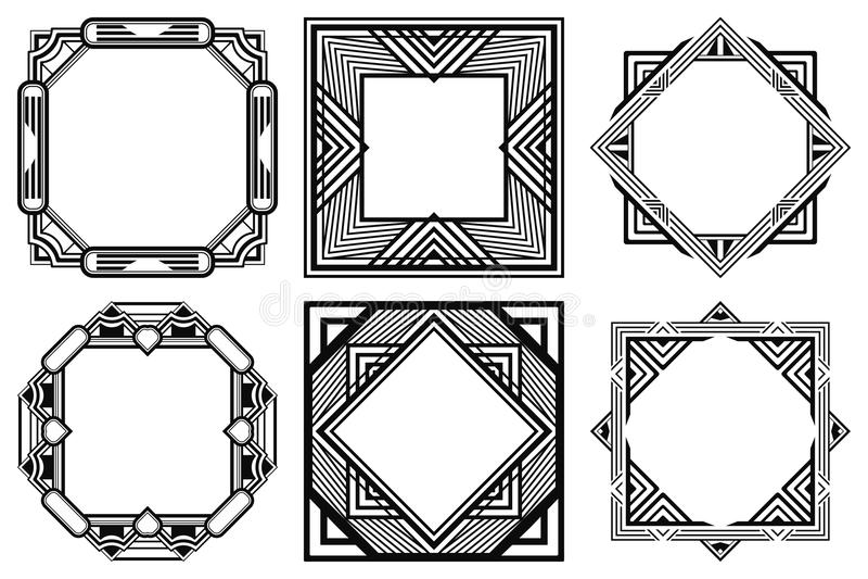 Marcos del art déco ilustración del vector