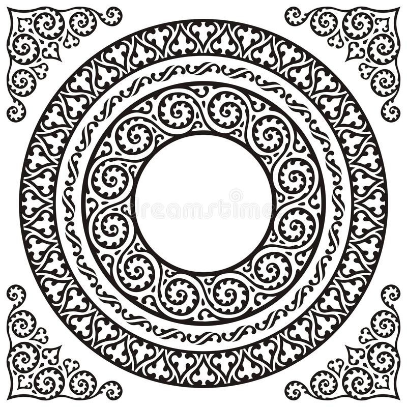 Marcos del círculo libre illustration