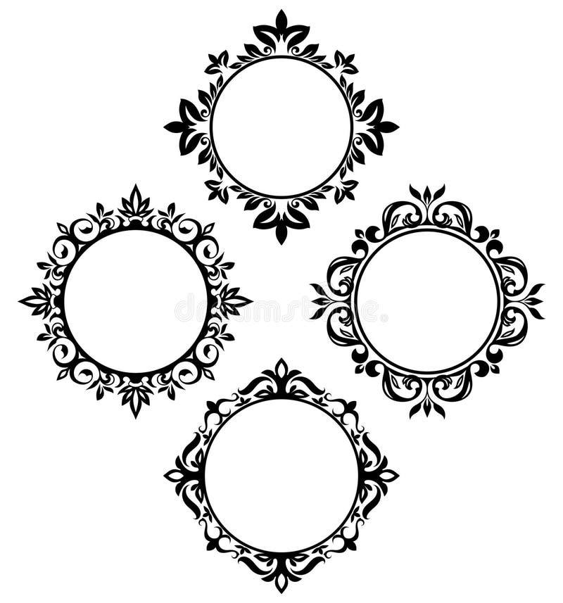 Marcos del círculo stock de ilustración