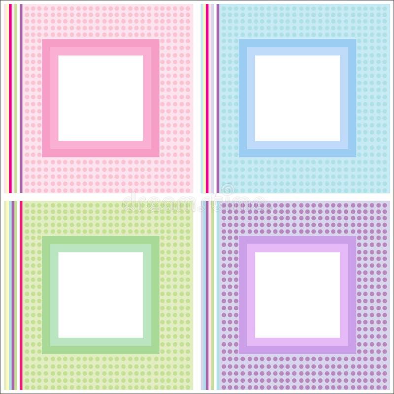 Marcos del cuadro/de la foto fijados ilustración del vector