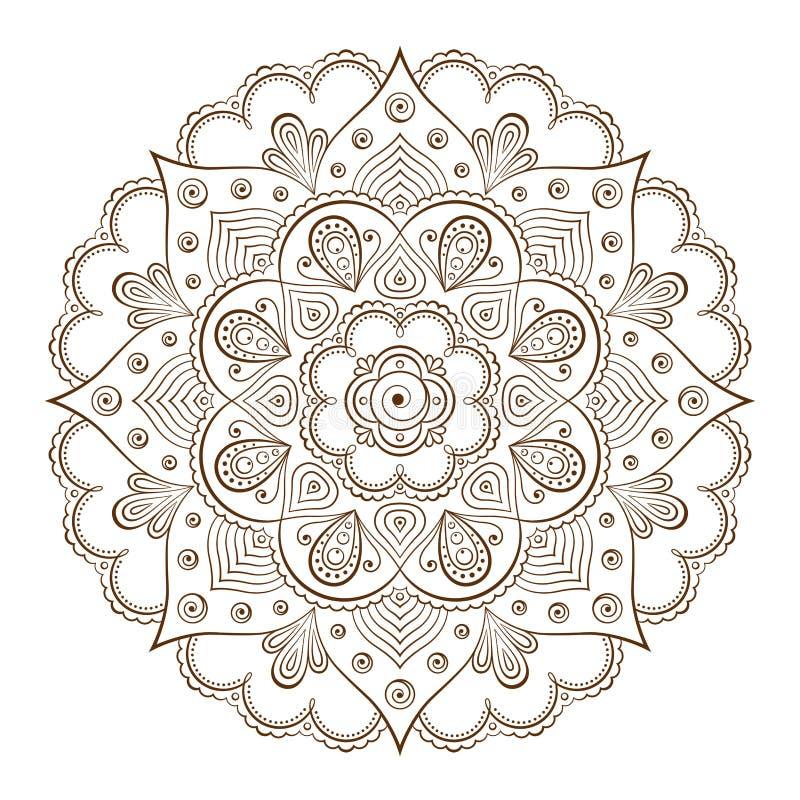 Marcos del fondo o del tatuaje basados en los ornamentos asiáticos tradicionales libre illustration