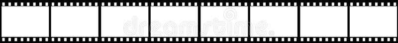 Marcos del marco de la tira de la película ilustración del vector
