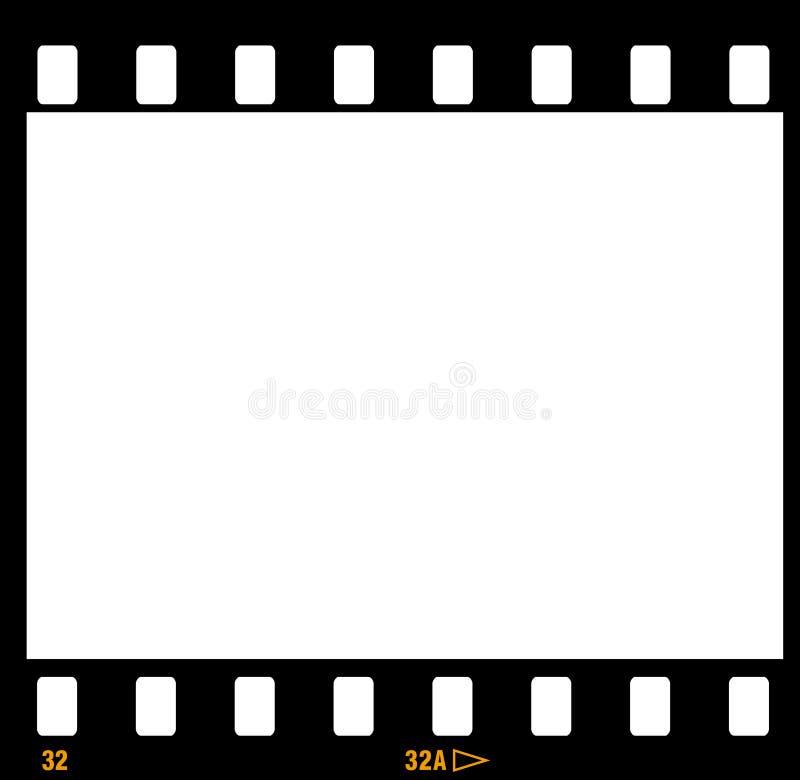 marcos del marco de la tira de la película de 35m m ilustración del vector