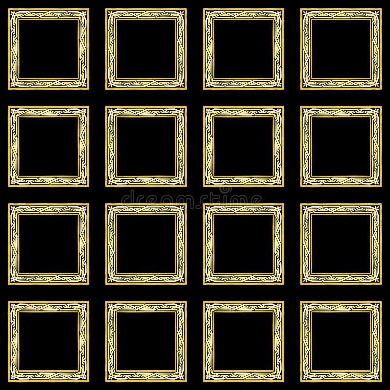 Marcos del papel pintado del nudo del mosaico libre illustration