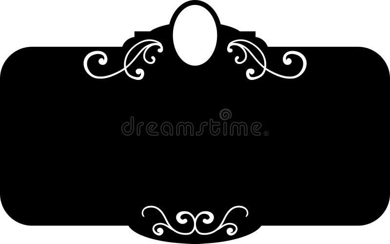 Marcos del vintage de la casilla negra, elementos del diseño Mano del bosquejo dibujada Frontera decorativa libre illustration
