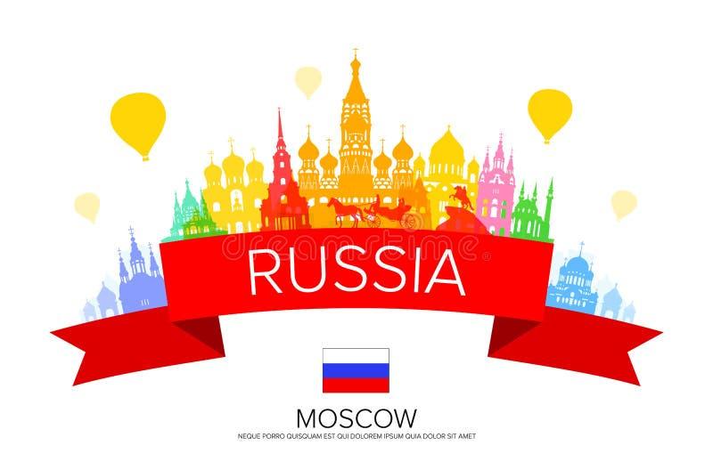 Marcos do curso de Rússia ilustração royalty free