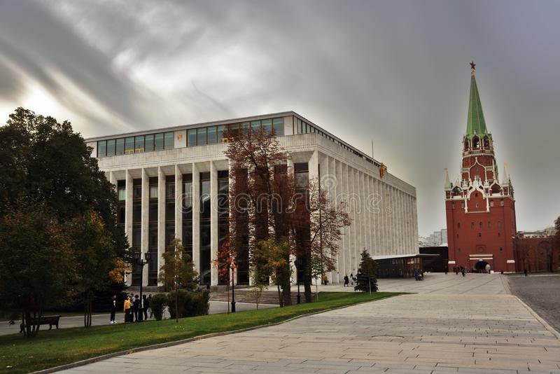 Marcos do Kremlin de Moscou Local do património mundial do Unesco fotografia de stock royalty free