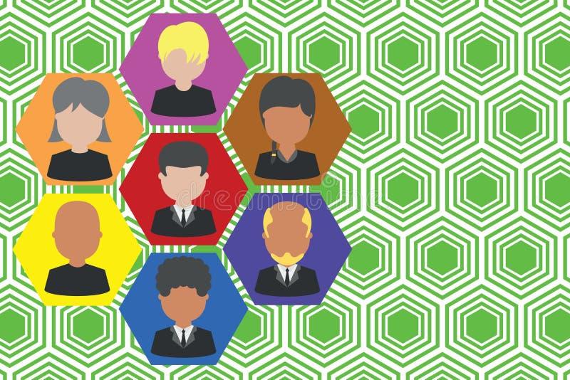 Marcos ejecutivo y personal Personales de trabajo de la compañía Empleados del CEO de la carta de organización Sociedad del equip stock de ilustración