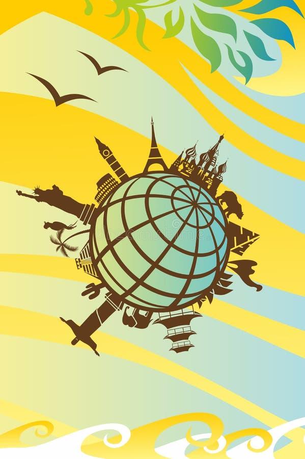 Marcos em torno do mundo ilustração stock