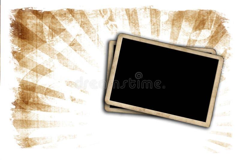 Marcos en blanco de la foto en la pared ilustración del vector