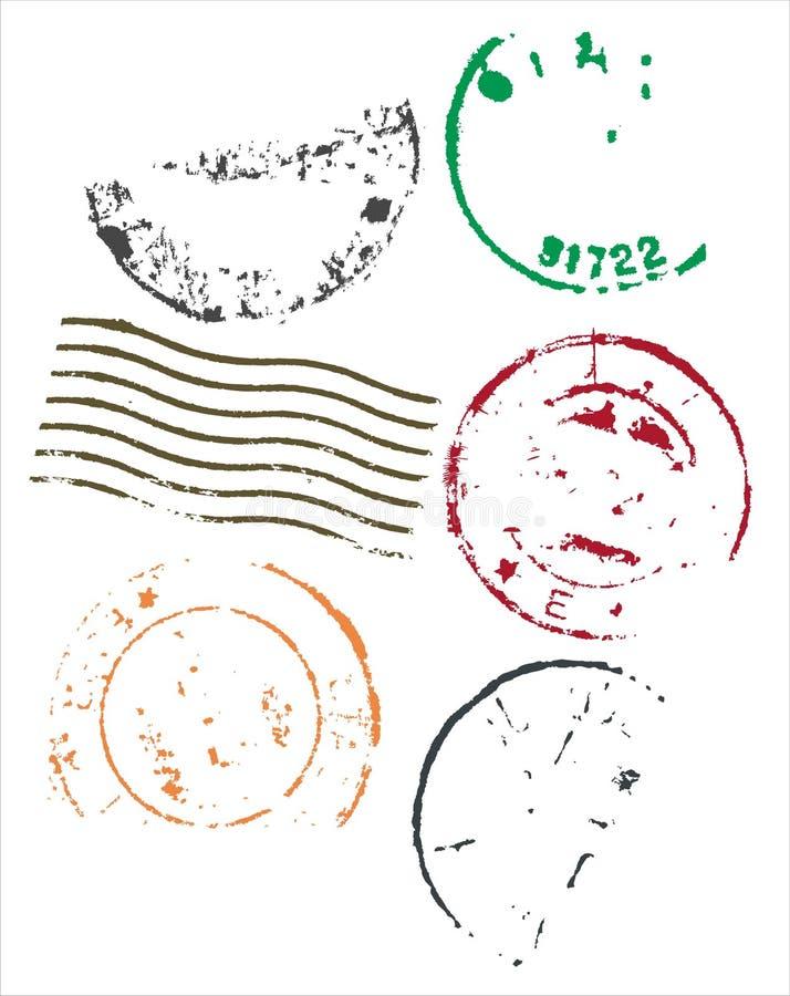 Marcos en blanco de los matasellos - vector ilustración del vector