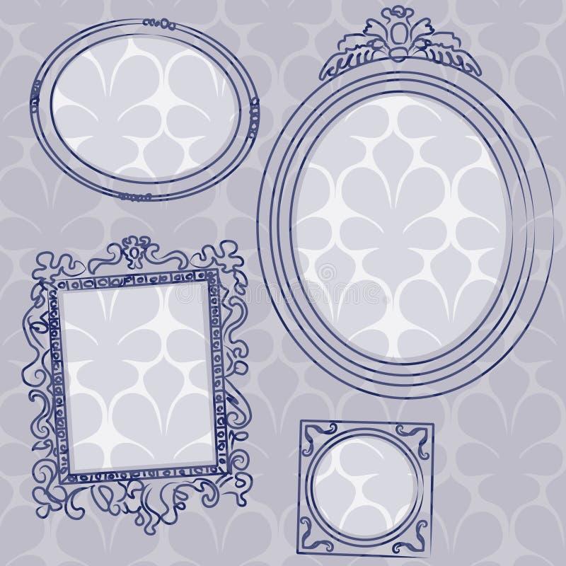 marcos en la pared stock de ilustración