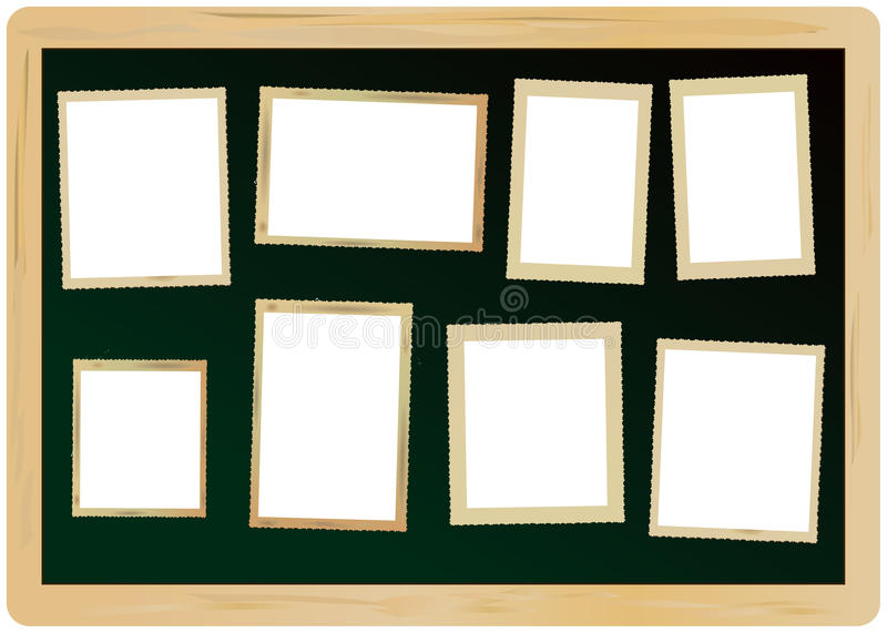 marcos en una pizarra stock de ilustración