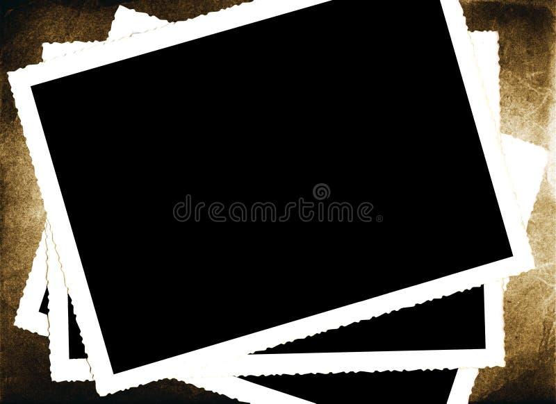 Marcos envejecidos de la foto ilustración del vector