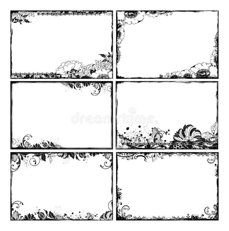 Marcos florales bohemios ilustración del vector